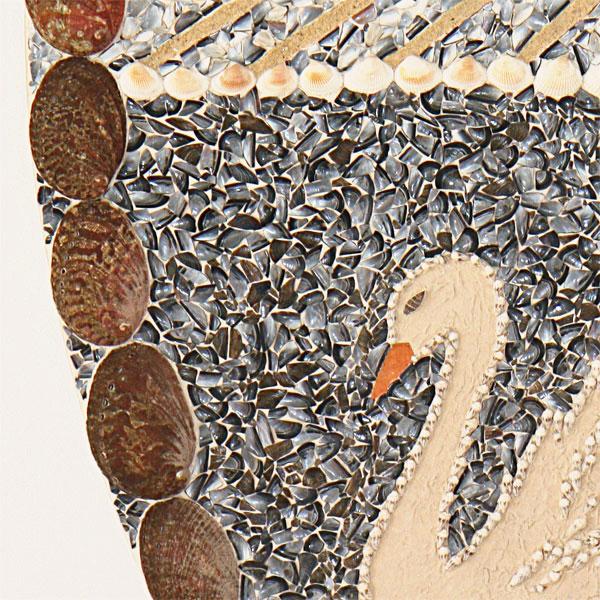 De zwaan schelpenschilderij