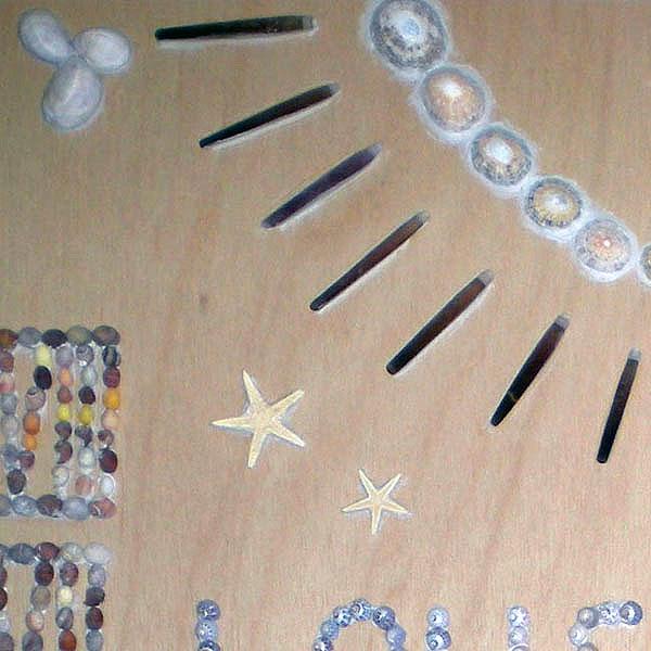 Zonnewijzer schelpenschilderij