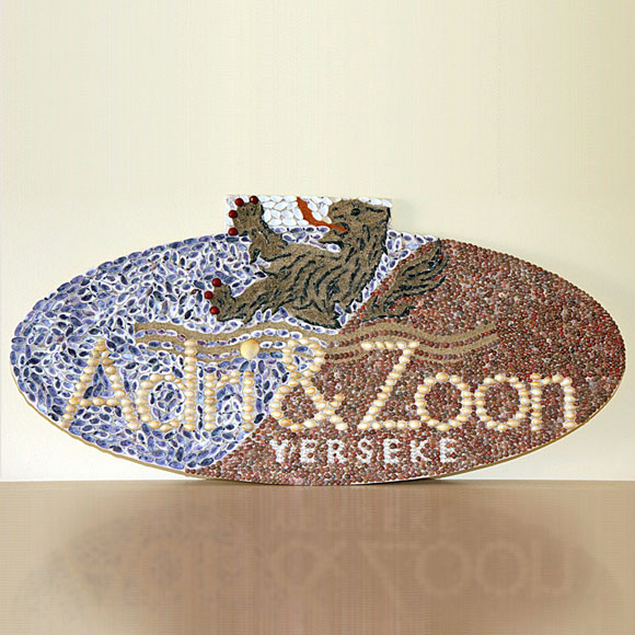 Logo Adri & Zoon schelpen schilderij