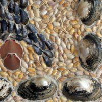 Ruimtevaartuigen schelpen schilderij